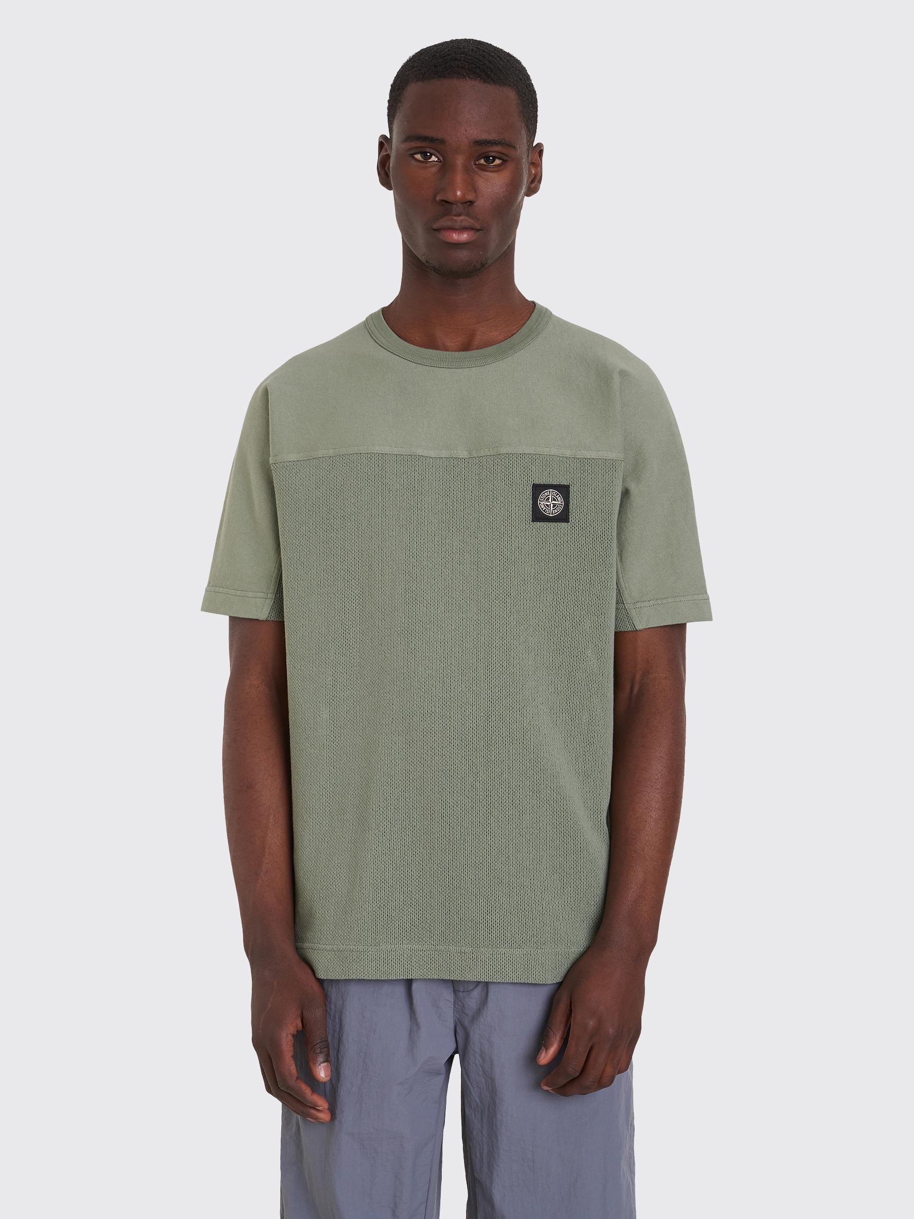 436f9077ab87 Très Bien - Stone Island Short Sleeve Sweatshirt Sage