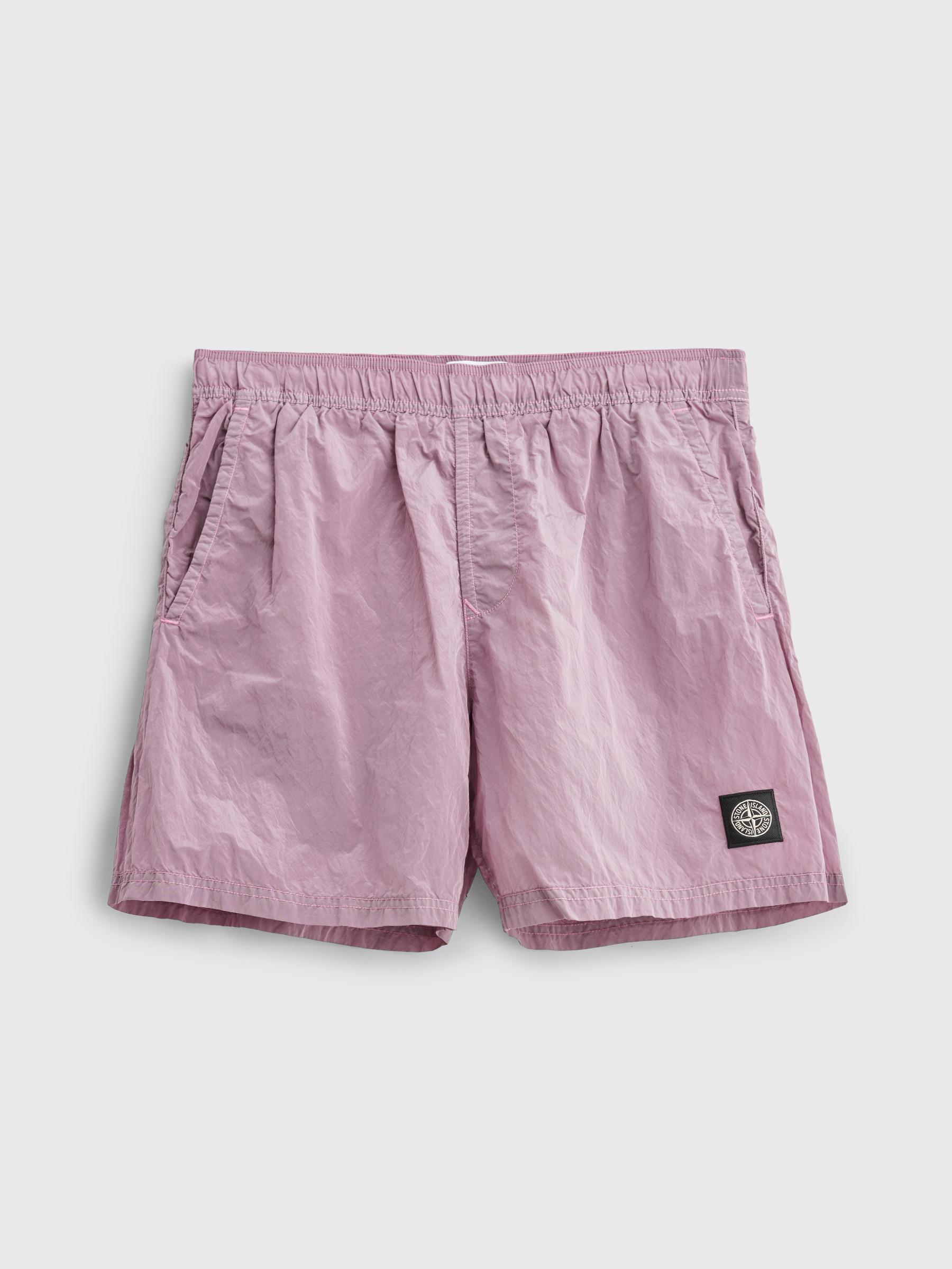 nylon metal stone island shorts