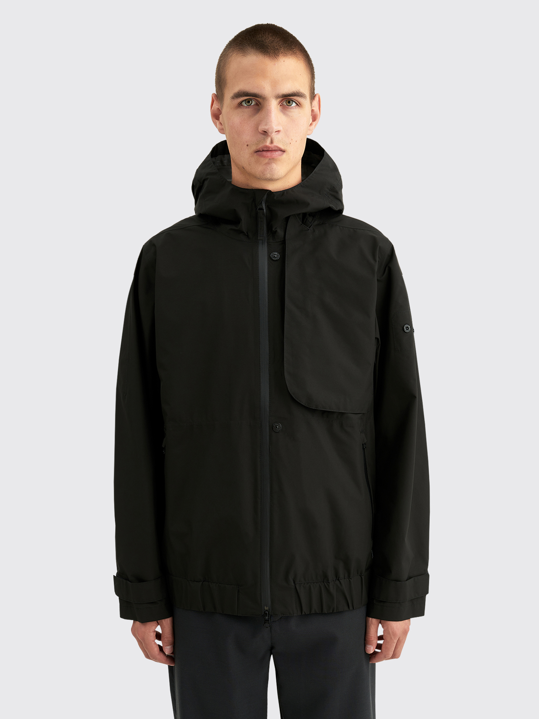 Stone Island Shadow Project Gore Tex Paclite Hooded Jacket Black