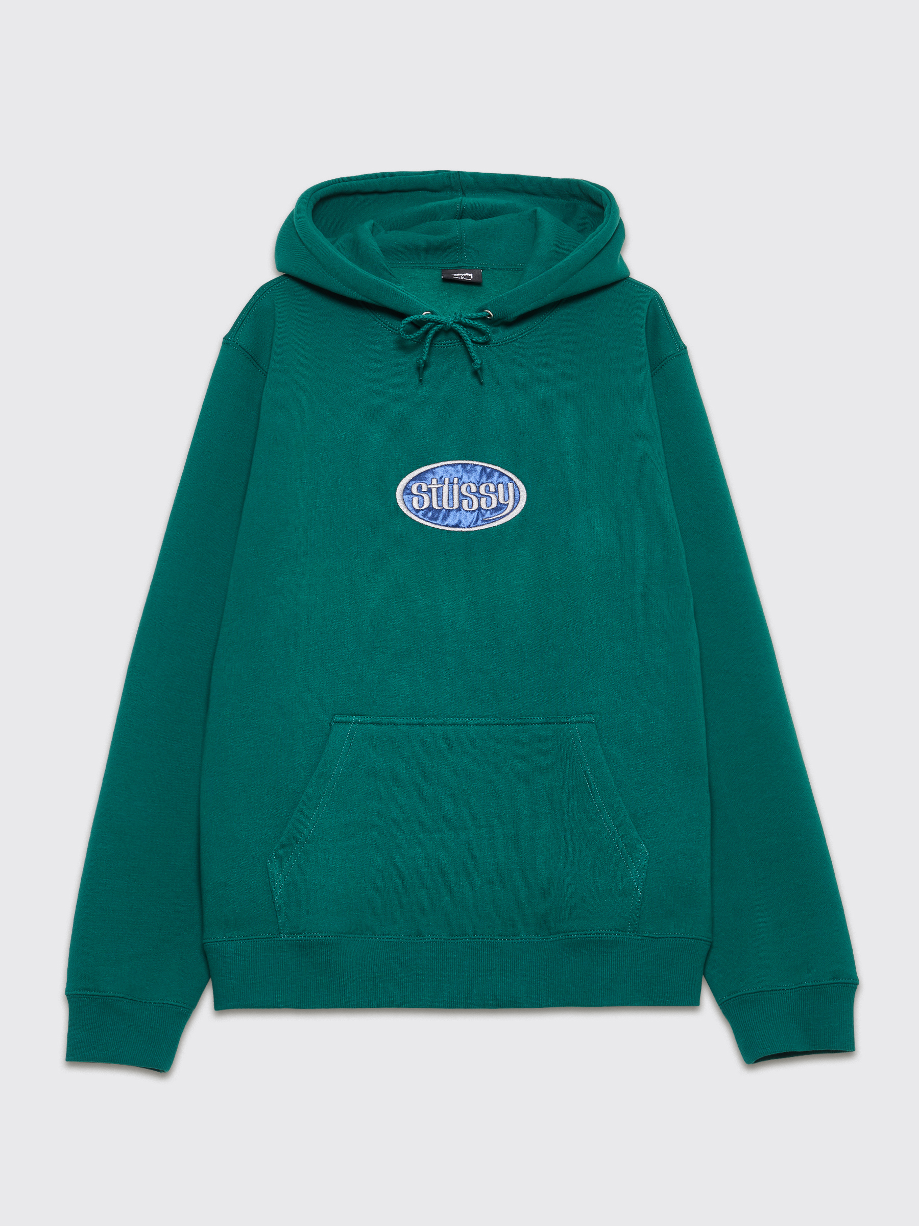 8b4f5b9281 Stüssy Hooded Sweatshirt Oval Applique Green