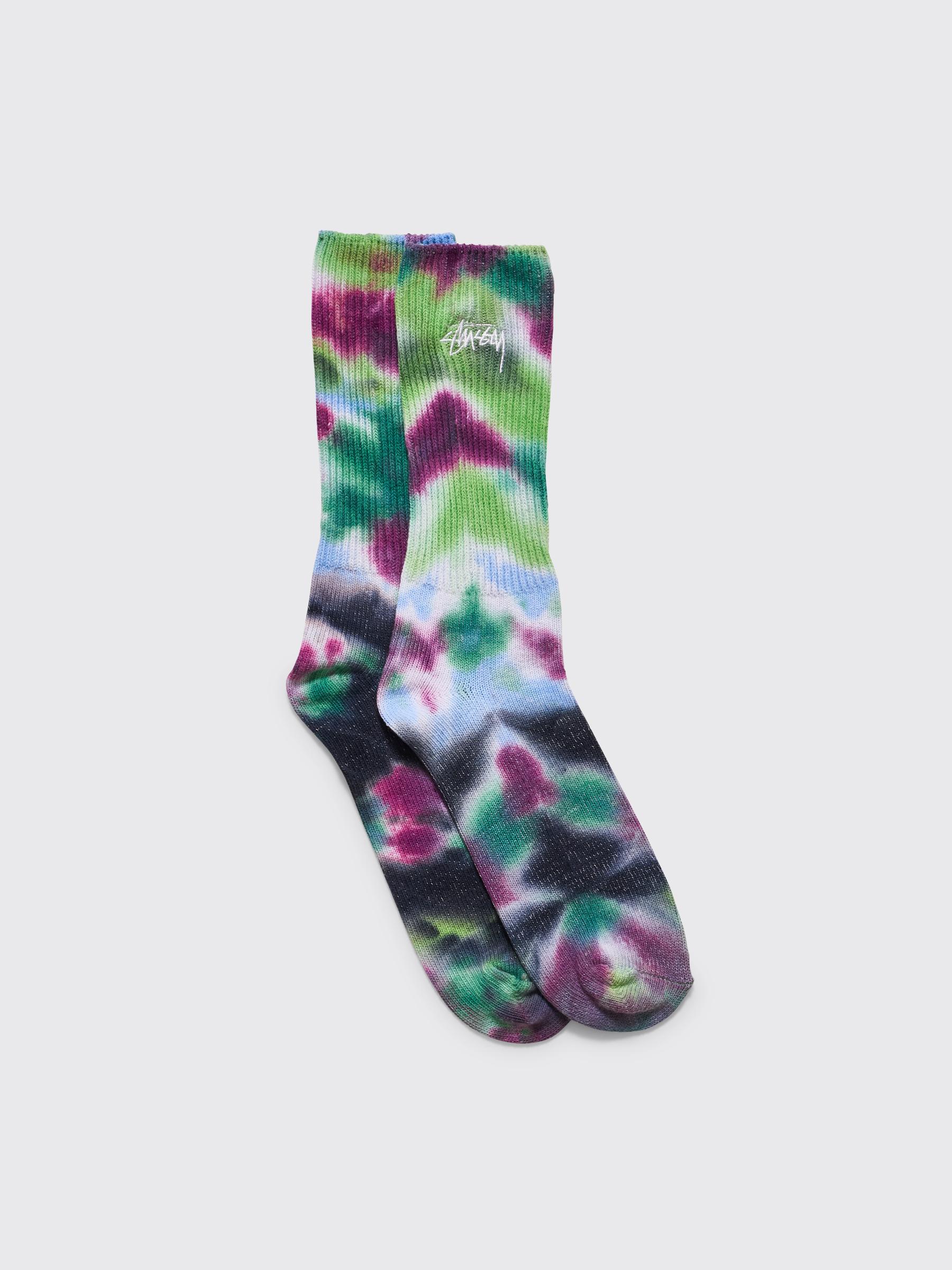 Stüssy Tie Dye Socks Blue